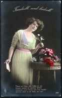 D7959 - Hübsche Junge Frau Im Kleid - Mode Frisur - Coloriert - Pretty Young Women - Gel Chemnitz - Mode
