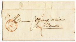 1852 NIET GEFRANKEERDE BRIEF VAN GEDINNE NAAR BOUILLON Zie Scan(s) - Belgio