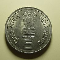 India 5 Rupees 1984 Indira Gandhi - Inde