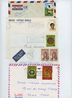 Maroc : 7 Enveloppes Avec Timbres 1961 à 1986 - Morocco (1956-...)