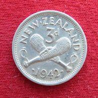 New Zealand 3 Pence 1942 KM# 7 Lt 651 Silver  Nova Zelandia Nuova Zelanda Nouvelle Zelande - Neuseeland