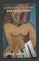 """Carte De Visite De Restaurant Parisien """"Le Gévaudan D'Aligre - Paris"""" Les Demoiselles D'Avignon Par Picasso - Visiting Cards"""
