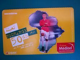 Méditel  Maroc Marokko Morocco Recharge Gsm  Prépayée 50 Dh Rare - Marokko