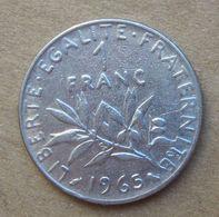 Errore Conio 1965  FRANCIA  1 Franco (O. Roty) - Circolata - Francia
