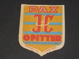 Oud Etiket PAX Brouwerij CORNELISSEN Te OPITTER - Cerveza
