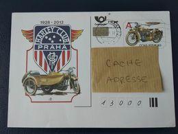 Tchéquie 2012 CDV150 Entier Carte Postale Officielle Harley-Davidson Club Praha Prague Moto - Cartas