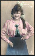 D7965 - Loreley Hübsche Junge Frau Mit Im Kleid - Mode Frisur - Coloriert - Pretty Young Women Erotik - Mode