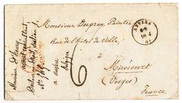 1861 NIET GEFRANKEERDE BRIEF VAN ANVERS NAAR MIRECOURT Zie Scan(s) - Belgio