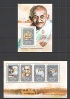 ST675 2014 GUINEE GUINEA FAMOUS PEOPLE GREAT HUMANIST MAHATMA GANDHI KB+BL MNH - Mahatma Gandhi