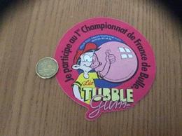 AUTOCOLLANT, Sticker «Léo TUBBLE Gum - Je Participe Au 1er Championnat De France De Bulle» - Adesivi