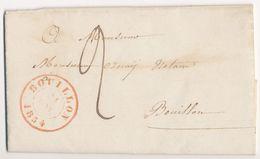 1854 NIET GEFRANKEERDE BRIEF VAN BOUILLON NAAR BOUILLON Zie Scan(s) - Belgio