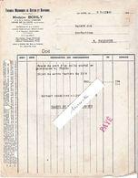 1949 / Facture BOHLY / Tissage Coton & Rayonne / Usine De La Côte / Près Lure Ronchamp / 70 Haute-Saône - Francia