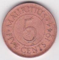 Ile Maurice , 5 Cents 1944 , George VI - Maurice