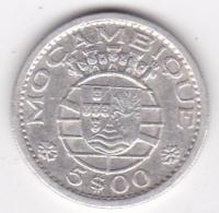 Colonie Portugaise, Mozambique, 5 Escudos 1960 . Argent - Mozambique