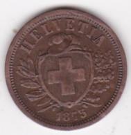 Suisse . 2 Rappen 1875 , En Bronze - Suiza