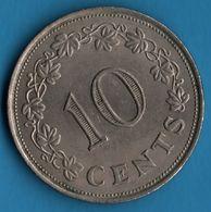 MALTA 10 CENTS 1972 KM# 11 - Malta