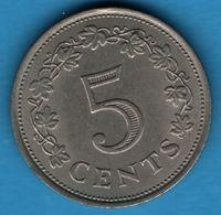 MALTA 5 + 10 CENTS 1972 KM# 10+11 - Malta