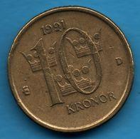 NORWAY 10 Kronor 1991  KM# 877 Carl XVI Gustaf - Noruega