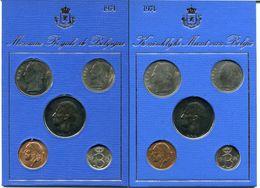 1974 FR+VL  Set Van 10 Munten Op 2x Blauw Karton Van Elk 5 Munten Met Gouden Opdruk - Morin Catnr M/MS5   FR + VL - Collections