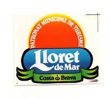 Autocollant Lloret De Mar Coasta Brava Patronat Municipal De Turisme- Format : 10.5x8.5 Cm - Pegatinas