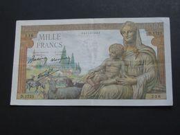 1000 Francs - Mille  Francs Déesse Déméter - Type 1942   22-10-1942   **** EN ACHAT IMMEDIAT **** - 1 000 F 1942-1943 ''Déesse Déméter''