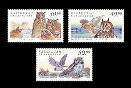Kazakhstan 2001 Mih. 322/24 Fauna. Birds. Owls MNH ** - Kazakhstan