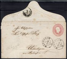 Allemagne - 1864 - Enveloppe Entier Postal 3 K De Mannheim Vers Heidelberg - B/TB - - Baden