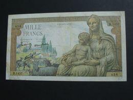 1000 Francs - Mille  Francs Déesse Déméter - Type 1942   8-10-1942  **** EN ACHAT IMMEDIAT **** - 1 000 F 1942-1943 ''Déesse Déméter''