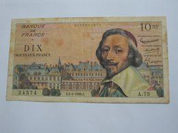 10 Dix Francs RICHELIEU  5-5-1960   **** EN ACHAT IMMEDIAT **** - 1959-1966 Francos Nuevos