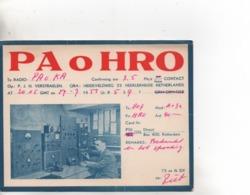Cpa.Cartes QSL.PAoHRO.1957.PJH Verstraelen.to PAOKA - Radio Amateur