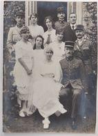 Belle Photo  Un Mariage Dans Une  Famile De Militaires  Officiers Armes à Déterminer   Décoration - Persone Anonimi