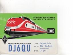 Cpa.Cartes QSL.DJ6QU.Deutch Bundesbahn.1967.Gerhard Galla.to PAOKA - Radio Amateur