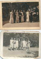 Photo Originale Lot De 2 Photos Groupe De Femmes 1927 - Persone Anonimi