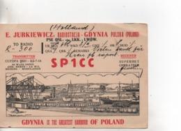 Cpa.Cartes QSL.SP1CC.Poland.1938.to PAOKA - Radio Amateur