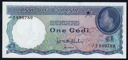 # # # Ältere Und Seltene Banknote Aus Ghana 1 Cedi 1965 UNC # # # - Ghana