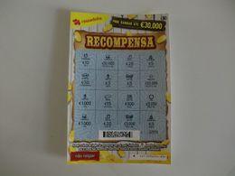 Loterie/ Lottery/ Loteria/ Lotaria Instant Instantânia Raspadinha Jogo Nº 417 Recompensa Portugal - Loterijbiljetten