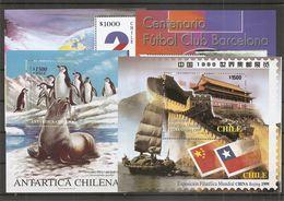 Chili ( Lot De 4 BF Différents XXX -MNH) - Chili