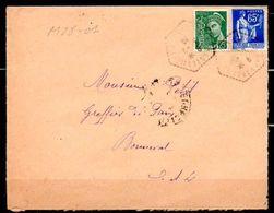 MP28-01: Dept 28 (Eure Et Loir) NOGENT LE ROTROU CP N°7 1938 > Cachet Type G4 - Marcophilie (Lettres)
