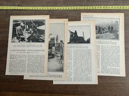 1918 JST L ARTILLERIE ANTI AERIENNE PAUL JAMES INGENIEUR CIVIL DES MINES MITRAILLEUSES - Collections