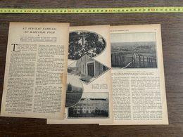 1918 JST AU BERCEAU FAMILIAL DU MARECHAL FOCH BOUT DU PUIG POLIGNAN VALENTINE - Collections