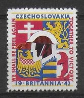 Czechoslovakia Britannia 1942 WW2 Vignet Werbemarke Cinderella Advertisement Propaganda - Fantasy Labels