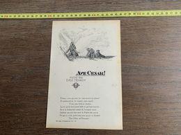 1918 JST AVE CESAR POEME PAR EMILE HENRIOT - Collections