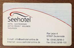 ALLEMAGNE SEEHOTEL CARTE A PUCE SANS CONTACT CLEF D'HOTEL POUR COLLECTIONNEUR PAS TÉLÉCARTES NO PHONECARD - France