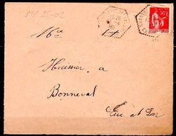 MP28-02: Dept 28 (Eure Et Loir) CHARTRES CP N°8 1935 > Cachet Type G4 - Marcophilie (Lettres)