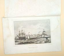 Hellevoetsluis Van De Reede Gezien 1858/ Hellevoetsluis (NL) Seen From The Reede 1858. Rohbock, Fesca - Stampe & Incisioni