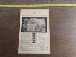 1918 JST CINEMATOGRAPHE ET THEATRE DAVID GRAHAM PHILIPS AUTEUR UN HOMME NEUF - Collections