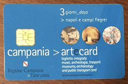 ITALIE NAPLE NAPOLI CAMPANIA ARTECARD MUSÉE TRANSPORT POUR COLLECTIONNEUR PAS TÉLÉCARTES NO PHONECARD - Italy