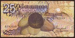 # # # Banknote Seychellen (Seychelles) Monetary Authory 25 Rupees UNC # # # - Seychelles