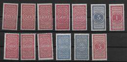 Deutsches Reich Lot Revenue Stamp Stempelmarke Fiscal Statische Gebühr - Germany