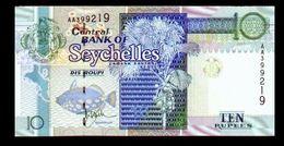 # # # Banknote Seychellen (Seychelles) Central Bank 10 Rupees UNC # # # - Seychelles